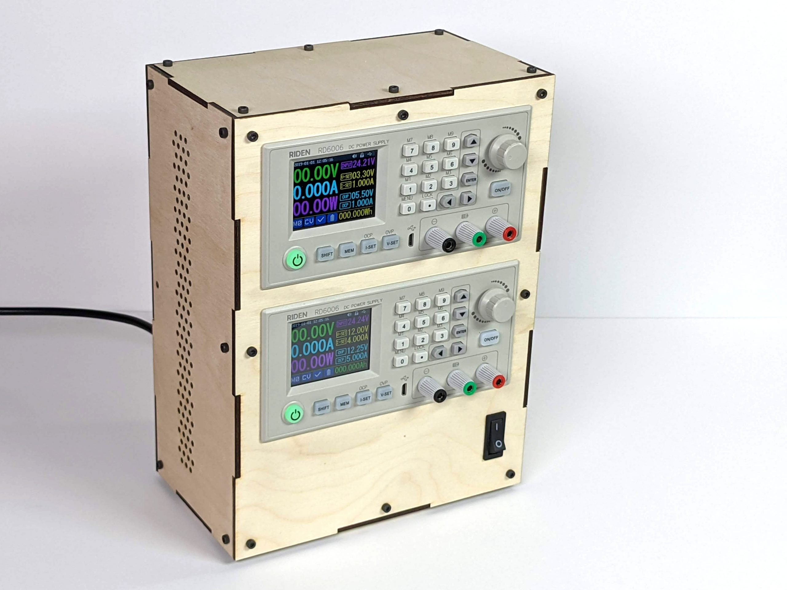 dual riden rd6006 power supply front scaled