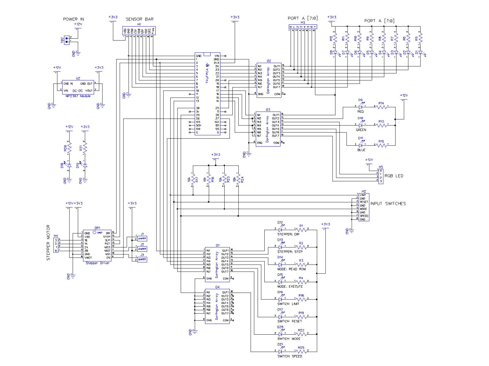 RGBY-ROM-schematic-main-board